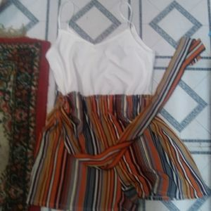 Rue 21 jumper striped plain